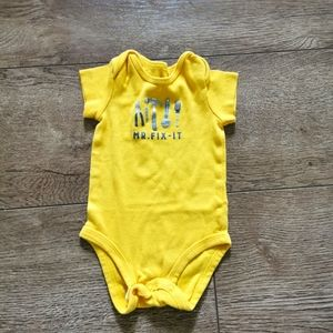 3/$12 Carter's yellow onesie 3 M